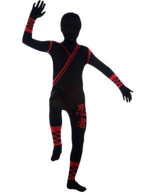 Second Skin Japanese Ninja Jumpsuit Boy's Costume