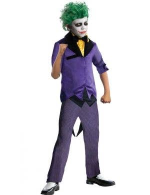 Boy's Gotham Joker Batman Villain Costume Front View