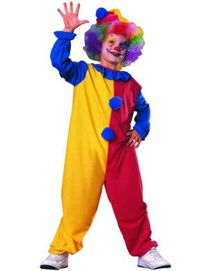 Boys Colourful Clown Circus Fancy Dress Costume