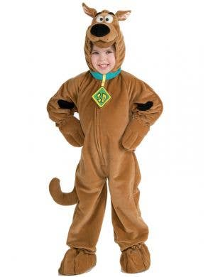 Boy's Scooby Doo Cartoon Character Onesie Costume Front