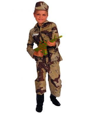 Boys Camouflage Special Forces Soldier Book Week Costume