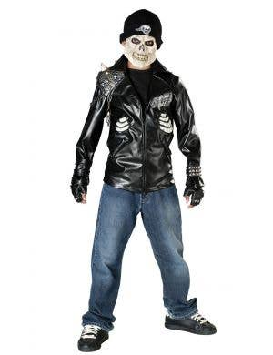 Boys Punk Rock Death Rider Costume Front View