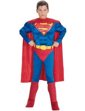 Superman Boys Muscle Chest Superhero Costume