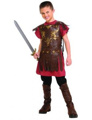 Ancient Times Roman Gladiator Boys Fancy Dress Costume