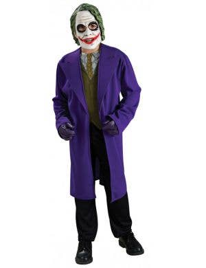 Boy's Joker Dark Knight Batman Villain Costume Front View