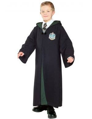 Boy's Harry Potter Deluxe Slytherin Fancy Dress Costume Robe