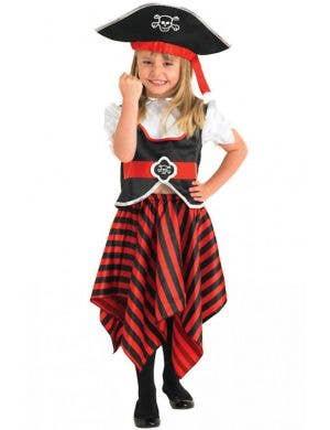 Girls Book Week Pretty Pirate Fancy Dress Costume