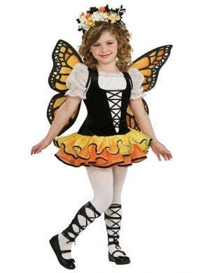 Pretty Monarch Butterfly Girls Animal Fancy Dress Costume
