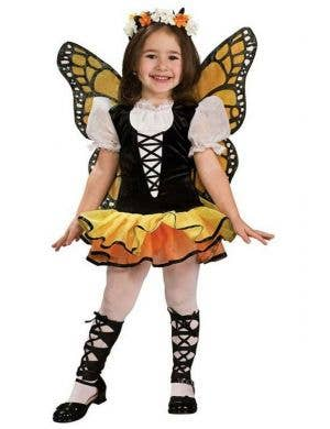Pretty Monarch Butterfly Toddler Girls Animal Fancy Dress Costume