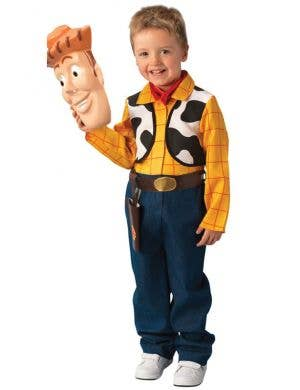 Boy's Woody Toy Story Deluxe Cowboy Costume Front View