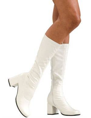 1960's Women's White Go Go Costume Boots