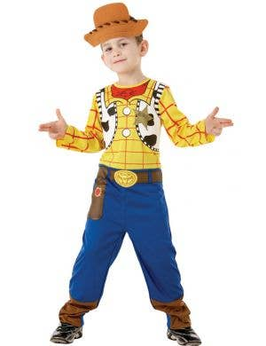 Boy's Woody Toy Story Disney Movie Cowboy Costume Front View
