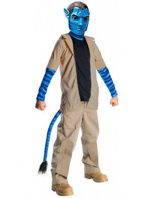 Jake Boy's Blue Avatar Alien Movie Costume Front View