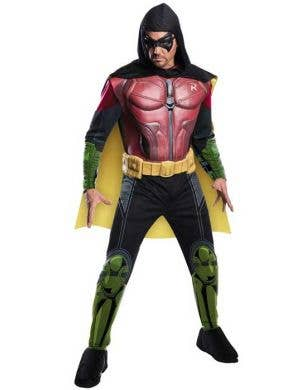 Deluxe Men's Arkham City Robin Muscle Chest Costume Front