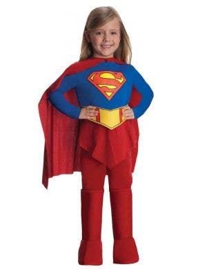 Supergirl Girl's Classic Superhero Costume Front