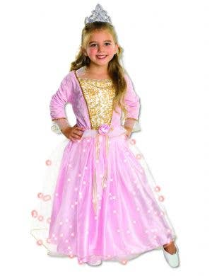 Pink Princess Girls Sleeping Beauty Fancy Dress Costume