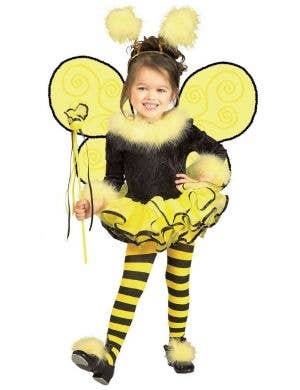 Toddler Girls Cute Bumble Bee Fancy Dress Costume