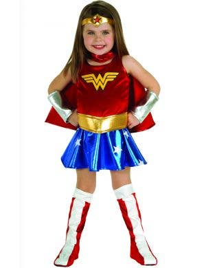 Wonder Woman girls toddler fancy dress costume main image