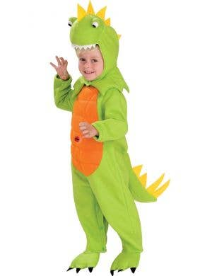 Cute Green Dinosaur Kids Fancy Dress Costume