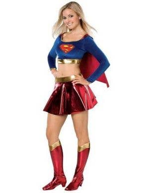 Girl's Teen Supergirl Superhero Comic Book Costume Front