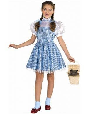 Girl's Sequinned Dorothy Wizard of Oz Costume Front View