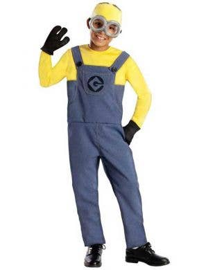 Boy's Minion Dave Despicable Me Movie Costume Front View
