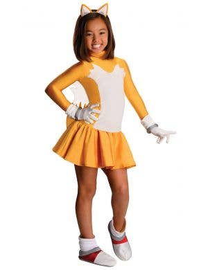 Girls Tails Fox Sonic the Hedgehog Fancy Dress Costume Main Image