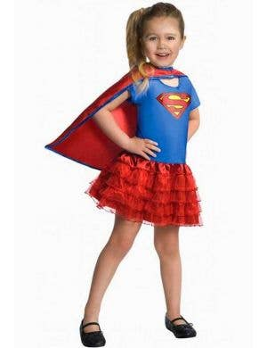 Girl's Tutu Supergirl Book Week Superhero Costume Front