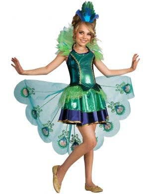 Girls Pretty Peacock Animal Book Week Fancy Dress Costume Main Image