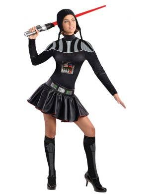 Women's Short Darth Vader Sexy Star Wars Costume Main Image