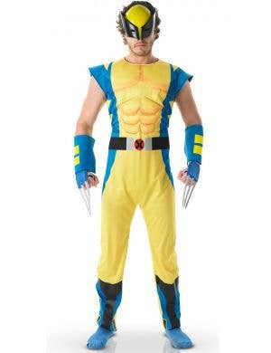 Wolverine Men's Superhero Fancy Dress Costume Main Image
