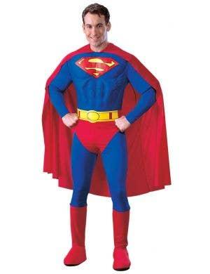 Superman Muscle Chest Fancy Dress Costume