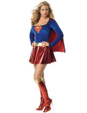Supergirl Sexy Superhero Costume ...  sc 1 st  Heaven Costumes & Superman - Womenu0027s Size Small Costumes | Heaven Costumes Australia