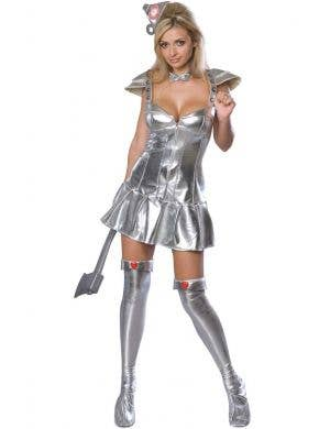 Women's Sexy Wizard of Oz Tin Man Fancy Dress Costume
