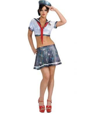 Ahoy Matey Sexy Women's Sequined Sailor Costume