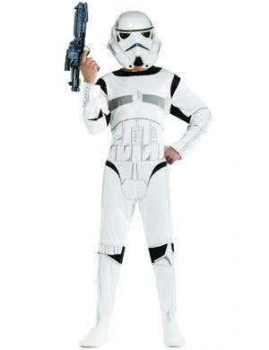 Classic Stormtrooper Men's Fancy Dress Costume Front View