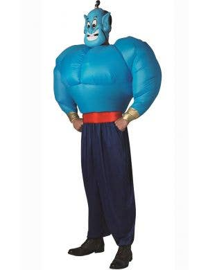 Men's Inflatable Aladdin Genie Fancy Dress Book Week Costume full view
