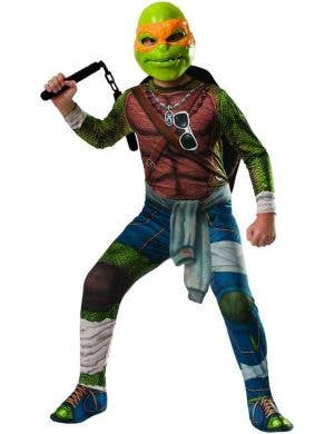 Michelangelo Boy's Teenage Mutant Ninja Turtles Costume Front