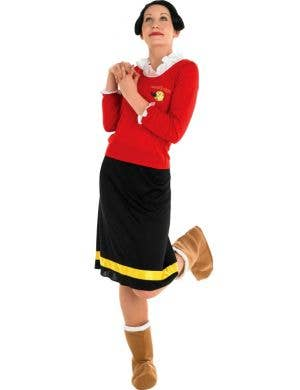 Women's Popeye Olive Oyl Fancy Dress Costume