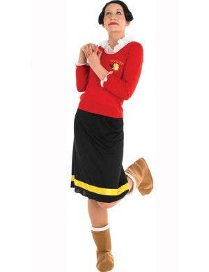 Women's Popeye Olive Oyl Fancy Dress Costume
