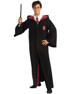 Hooded Harry Potter Costume Robe Men's Halloween Costume Main Image