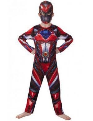 Red Power Rangers Fancy Dress Costume for Kids