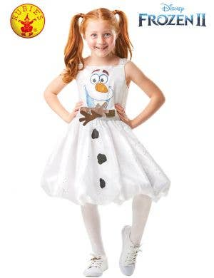 Frozen 2 - Deluxe Girls Olaf Fancy Dress Costume