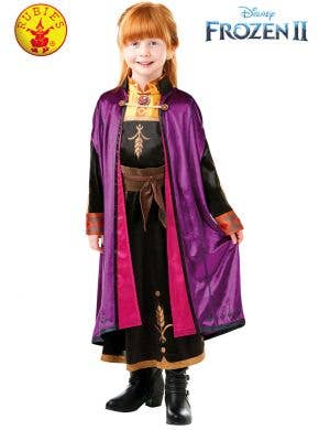 Frozen 2 - Deluxe Girls Anna Travelling Costume