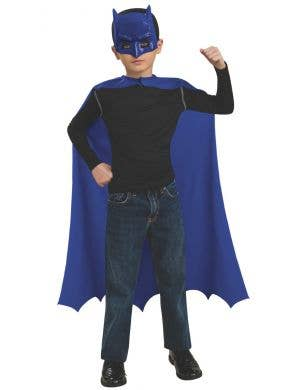 Classic Blue Batman Boys Mask and Cape Accessory Set