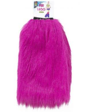 Forum Novelties Magenta Pink Fluffy Fur Leg And Boot Covers View 1