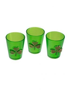 St Pats Day Shot Glasses Costume Accessory Set of 3 View 1