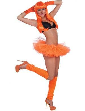 Forum Novelties Womens Neon Orange 1980's Costume Tutu view 1