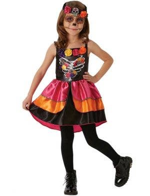Girls Sugar Skull Sweetheart Day of the Dead Costume