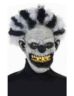 Midnight Creatures Crazy Clown White and Black Mens Mask